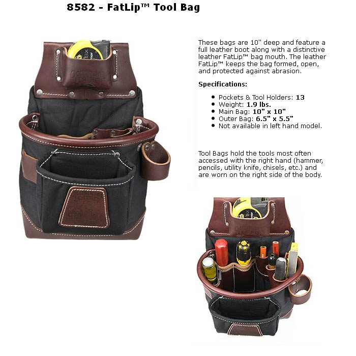 occidental 8582 fatlip tool bag