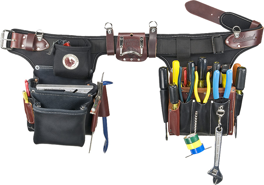 occidental 9596 adjust to fit pro electrician tool belt system