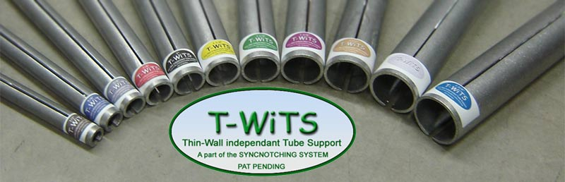 Notching thin wall tubing or notch sort pieces of tube